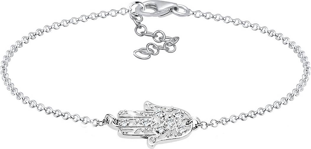 Elli Armband Hamsa Hand Swarovski® Kristalle 925 Silber