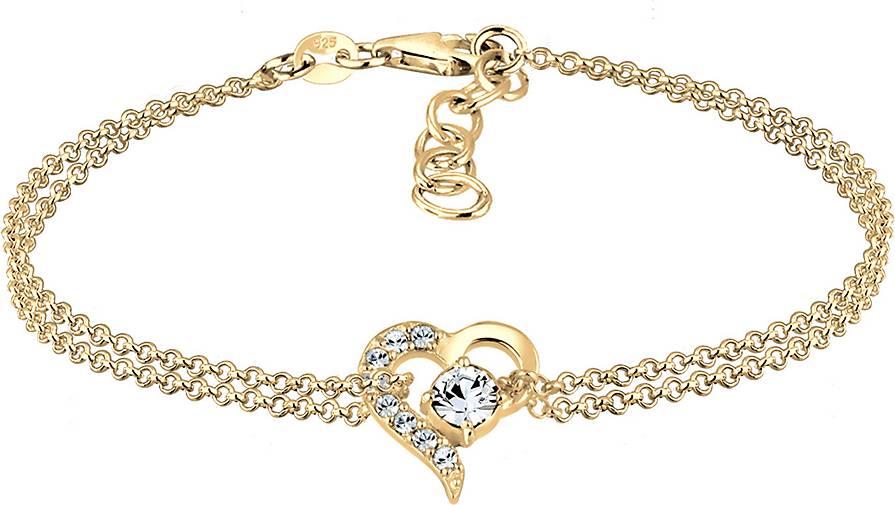 Elli Armband Herz Liebe Swarovski® Kristalle 925 Silber