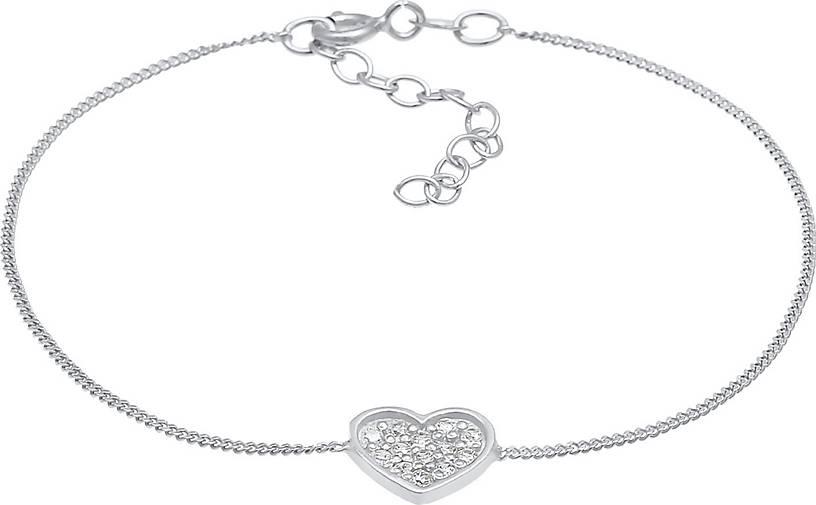 Elli Armband Herz Zirkonia Valentin Romantik 925 Silber