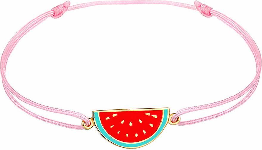 Elli Armband Kinder Melone Bunt Nylon Sommer 925 Silber