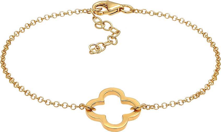 Armband Kleeblatt Cut Out Design Glück Talisman 925 Silber