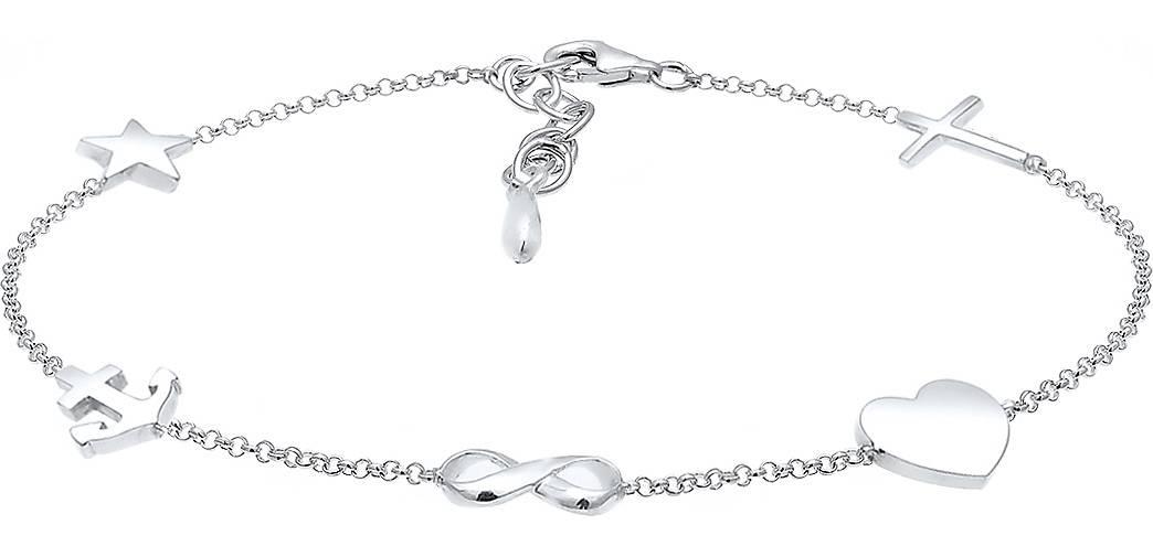Elli Armband Kreuz Herz Infinity Anker Stern Pendant 925 Silber