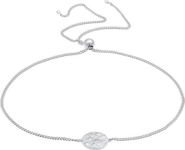 Elli Armband Plättchen Rund Matt Organic Trend 925 Silber