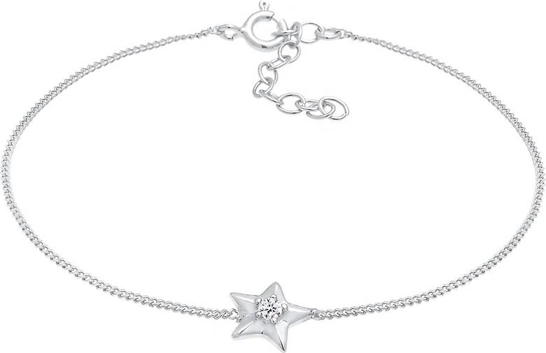 Elli Armband Stern Star Kristalle 925 Silber