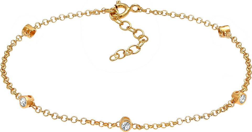 Elli Armband Zart Funkelnd  Kristalle 925 Silber
