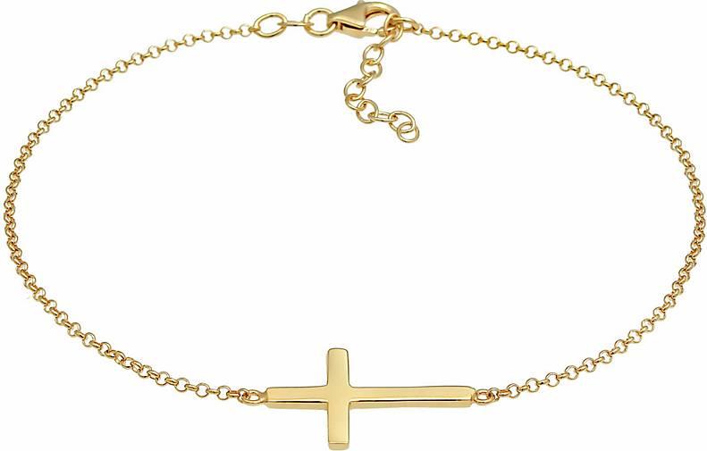 Elli Fußschmuck Kreuz Religion Glaube Filigran Trend 925 Silber