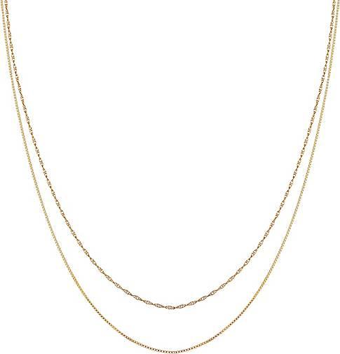 Elli Halskette 2er Set Basic Venezianer Kette Gedreht 925 Silber