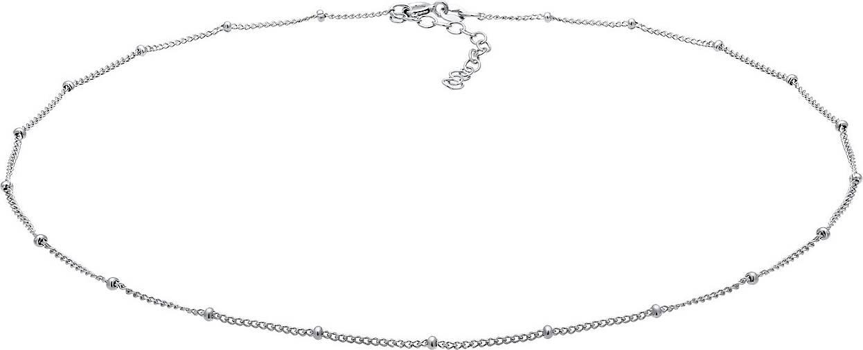 Elli Halskette Basic Choker Kugelkette Trend Blogger 925 Silber