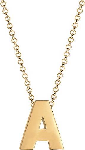 Elli Halskette Buchstabe A Initialen Minimal 925 Sterling Silber