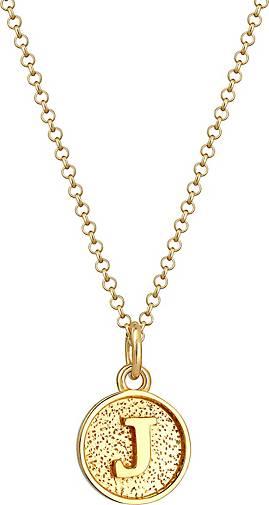 Elli Halskette Buchstabe J Initialen Vintage Plättchen 925 Silber