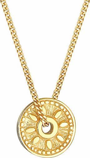 Elli Halskette Coin Münze Sonne Antik Vintage 925er Silber