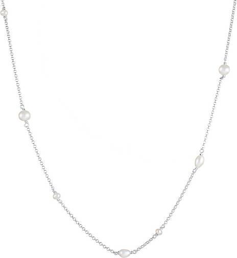 Elli Halskette Elegant Basic Süsswasserzuchtperlen 925 Silber