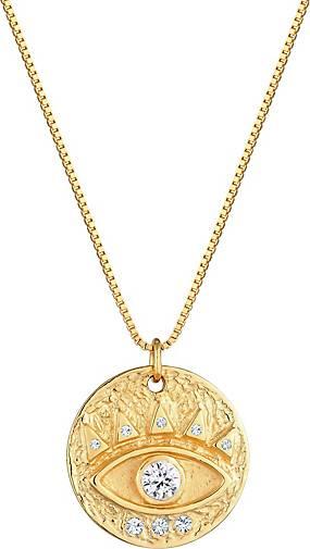 Elli Halskette Evil Eye Antik Swarovski® Kristalle 925 Silber
