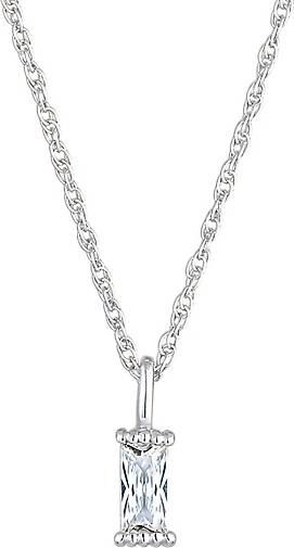 Elli Halskette Gedreht Solitär Zirkonia Rechteck 925 Silber