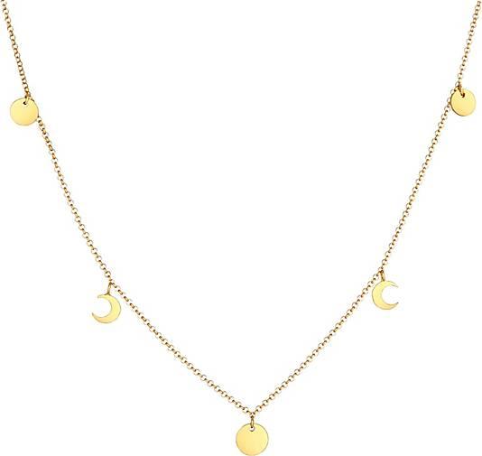 Elli Halskette Halbmond Astro Plättchen Trend Erbskette 925 Silber