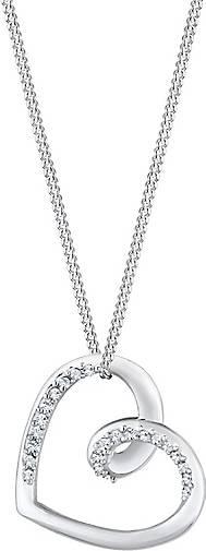Elli Halskette Herz Anhänger Kristalle 925 Silber
