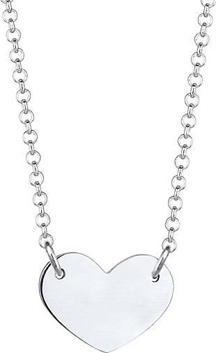 Elli Halskette Herz Anhänger Matt Trend Cool 925 Sterling Silber