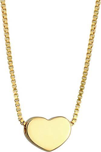 Elli Halskette Herz Schlicht Symbol Liebe Venezianer 925 Silber