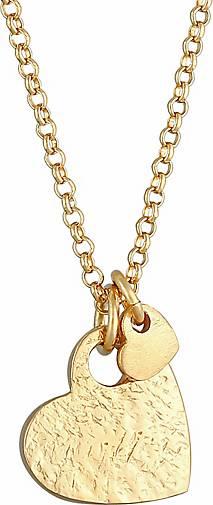 Elli Halskette Herzen Love Liebe Organic Look 925 Silber