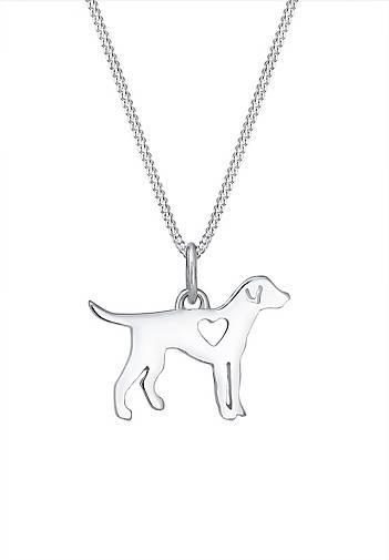 Elli Halskette Hund Dog Herz Tierfreund Cut-Out 925 Silber