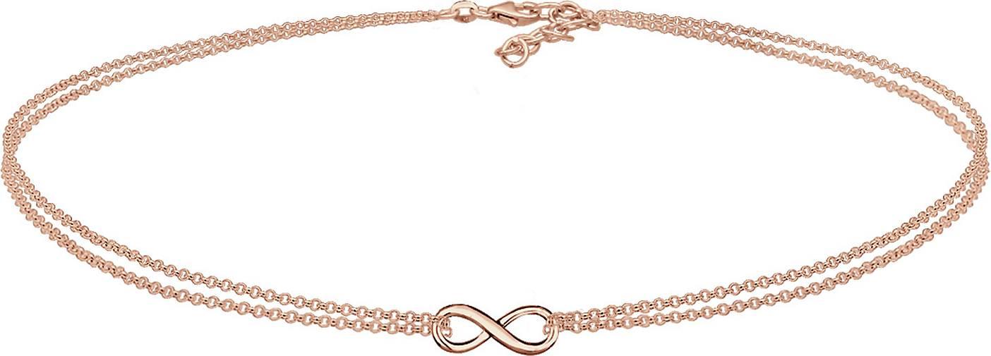 Elli Halskette Infinity Choker Unendlichkeit Erbskette 925 Silber