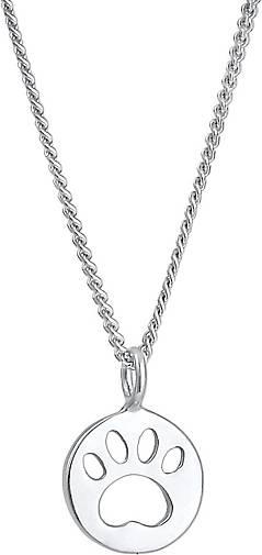 Elli Halskette Kinder Pfote Katze Hund Plättchen 925 Silber
