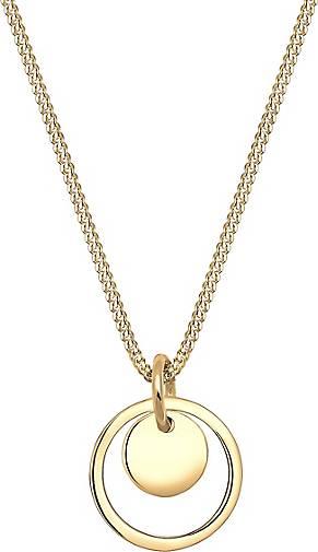 Elli Halskette Kreis Rund Geo Trend 925 Sterling Silber