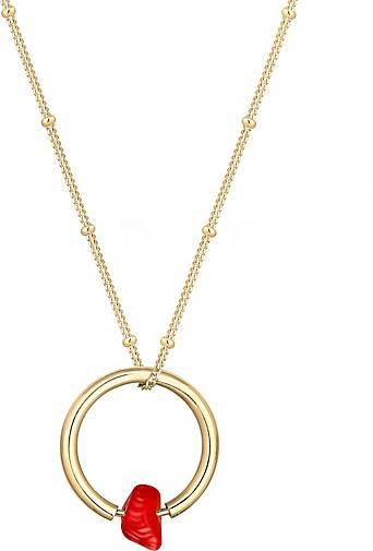 Elli Halskette Kugelkette Kreis Geo Korallen-Bead 925 Silber
