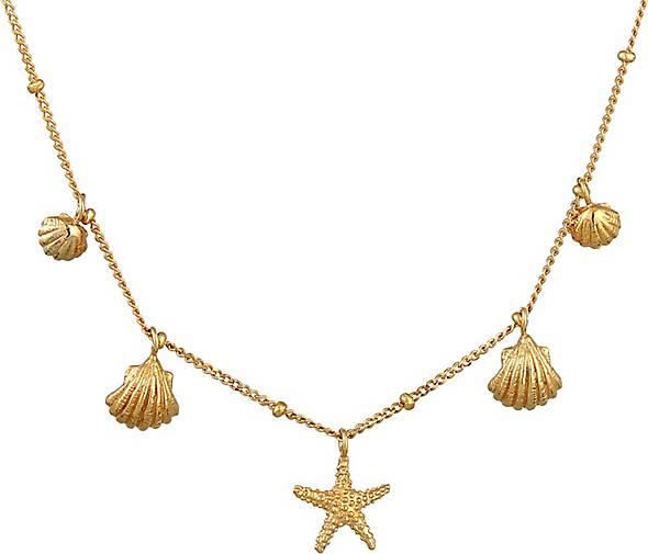 Elli Halskette Muscheln Seestern Kugelkette Maritim 925 Silber