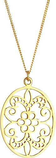 Elli Halskette Ornament Floral Flower Orientalisch 925 Silber