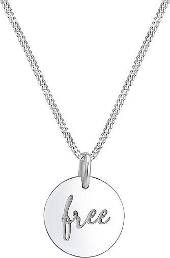 Elli Halskette Panzerkette Free Wording Boho Trend 925 Silber