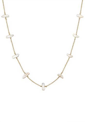 Elli Halskette Süßwasserzuchtperle Barock Natur Edel 925 Silber