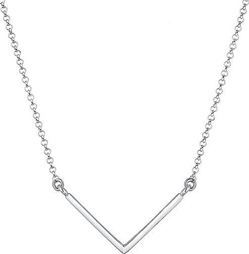 Elli Halskette V-Kette Geo Minimal Basic 925er Sterling Silber