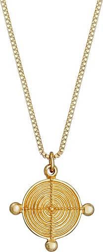 Elli Halskette Venizianerkette Plättchen Vintage Look 925 Silber