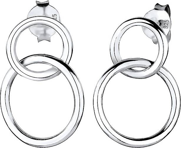 Elli Ohrringe Basic Kreis Geo Trend 925 Sterling Silber