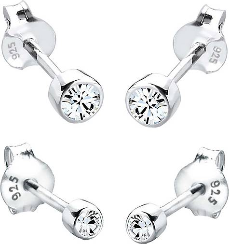 Elli Ohrringe Basic Set Kristalle Filigran 925 Silber