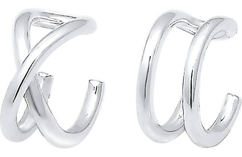 Elli Ohrringe Basic Trend Set Earcuff Klemme Minimal 925 Silber