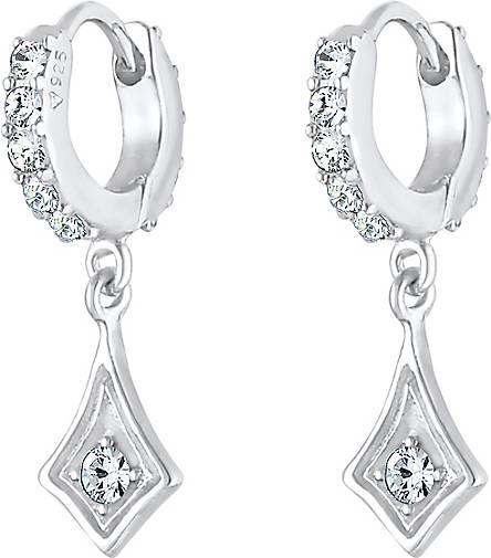 Elli Ohrringe Creole Einhänger Kristalle 925 Silber