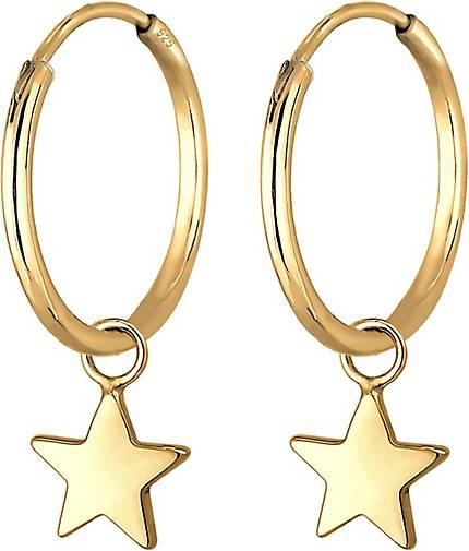 Elli Ohrringe Creolen Hänger Sterne Astro 925er Sterling Silber