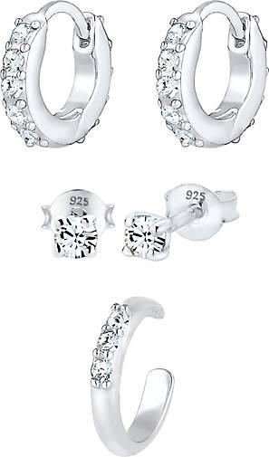 925 Sterling Silber Ohrringe Creolen 18 mm earring Nr 059