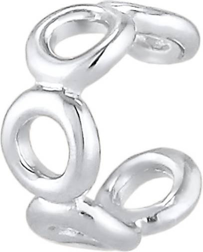 Elli Ohrringe Earcuff Klemme Ring Kreis Geo Look 925 Silber