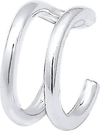 Elli Ohrringe Earcuff Klemme Single Geo Basic Minimal 925 Silber