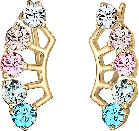 Elli Ohrringe Earcuff Multi Color Kristalle Silber