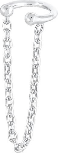 Elli Ohrringe Earcuff Ohrklemme mit Kettchen 925 Silber