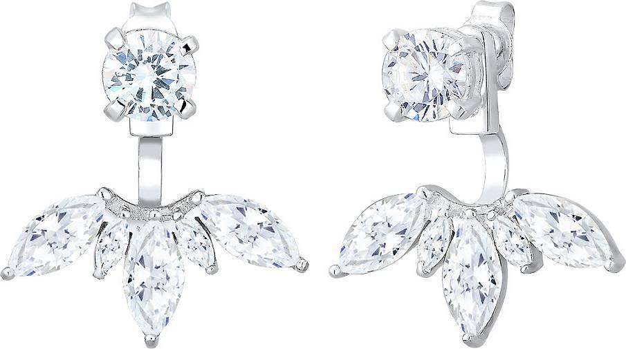 Elli Ohrringe Floral Ear Jackets Zirkonia 925 Sterling Silber