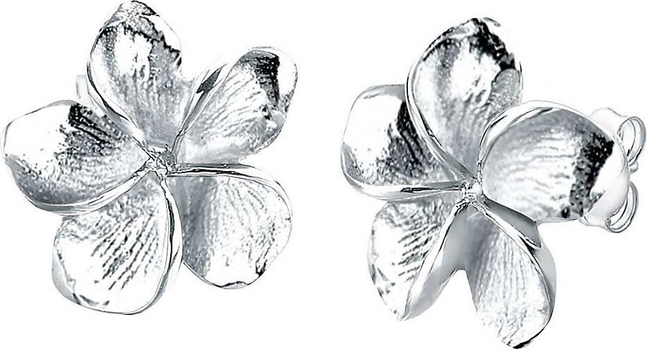 Elli Ohrringe Frangipani Blüte Blume Blüte 925 Silber