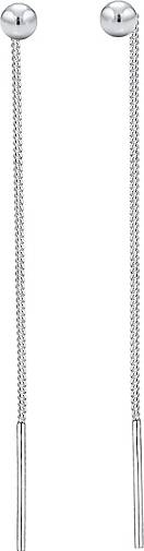 Elli Ohrringe Hänger Geo Kugel Basic Durchziehen 925er Silber
