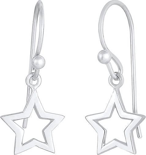 Elli Ohrringe Hänger Stern Astro Basic 925 Silber