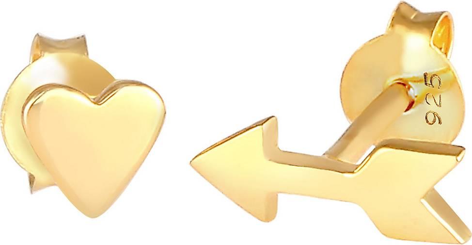 Elli Ohrringe Herz Pfeil Heart and Arrow Liebe 925 Silber