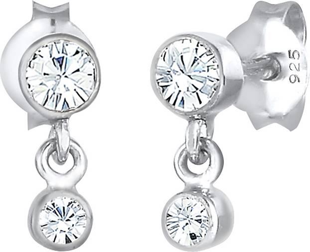 Elli Ohrringe Ohrhänger  Kristalle 925 Sterling Silber